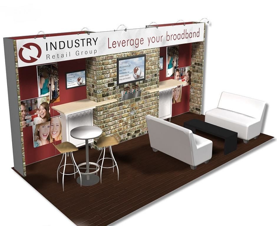 Industry retail group custom exhibits for Living room designs 10x10