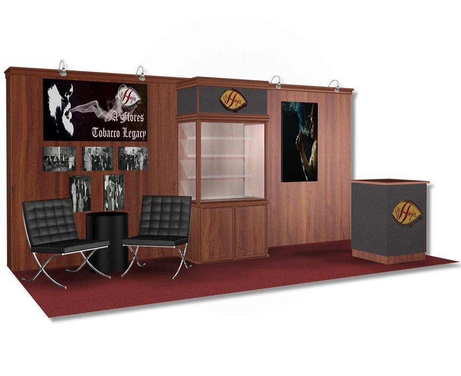 Nj Trade Show Booth : La hoja cigar co custom exhibits
