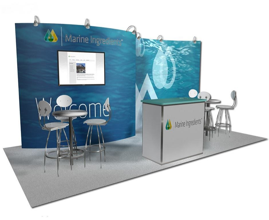 Nj Trade Show Booth : Marine ingredients custom exhibits