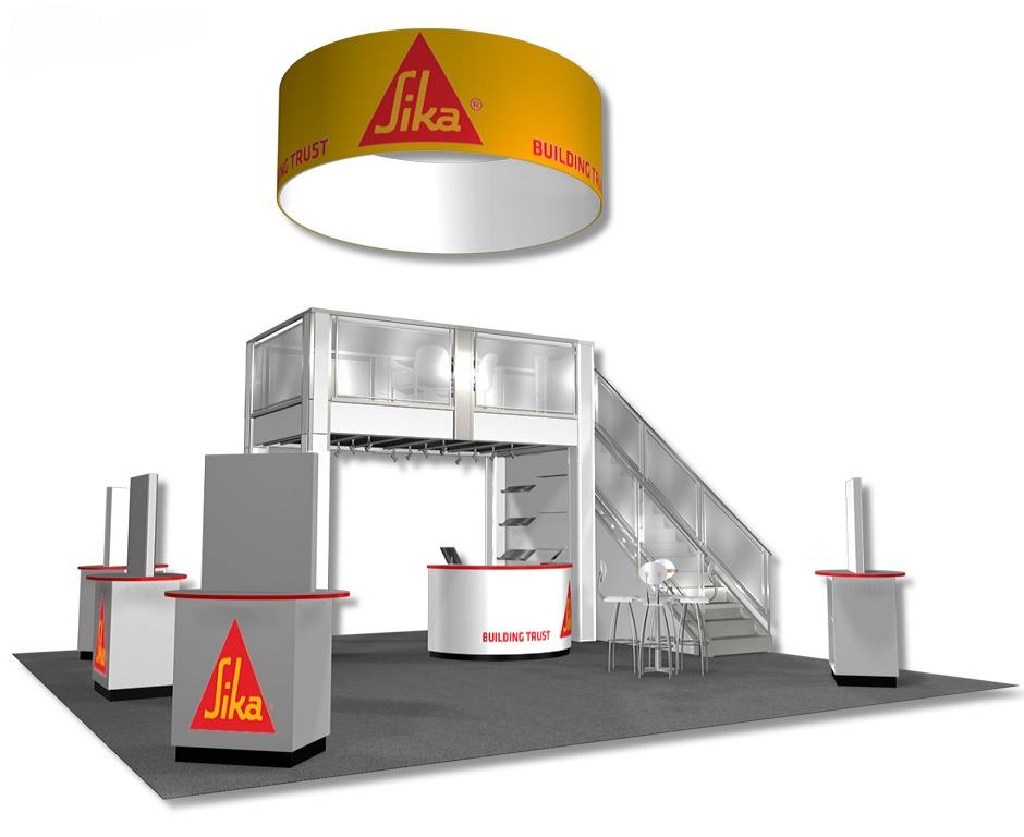 Nj Trade Show Booth : Sika custom exhibits