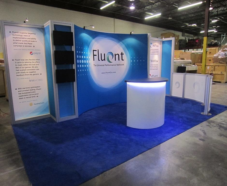Peninsula (End Cap) Trade Show Display Ideas : Custom Exhibits