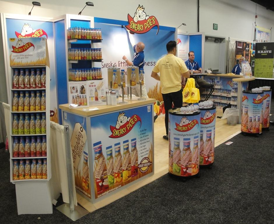 Food beverage trade show display ideas custom exhibits - Food booth ideas ...