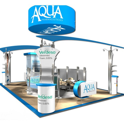 Custom Exhibit Aqua