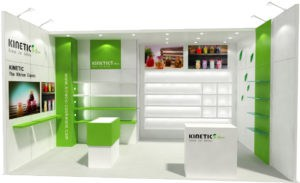 10x20 booth rental display