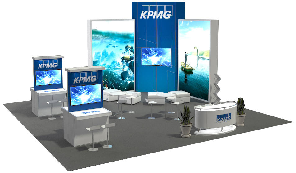 View More 30×30 Trade Show Booth Ideas
