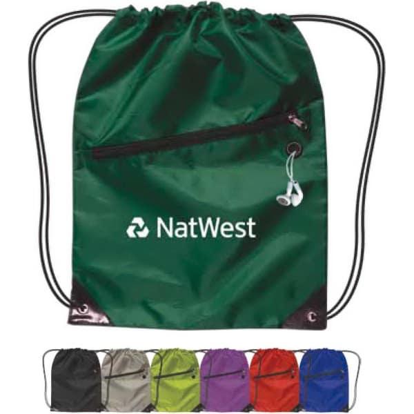 trade show giveaway drawstring bag