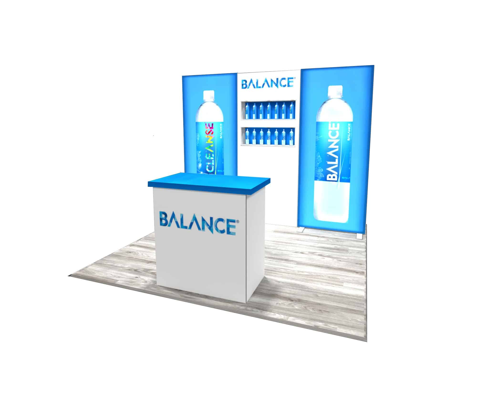 10x10 Trade Show Booth Rental: Balance Water