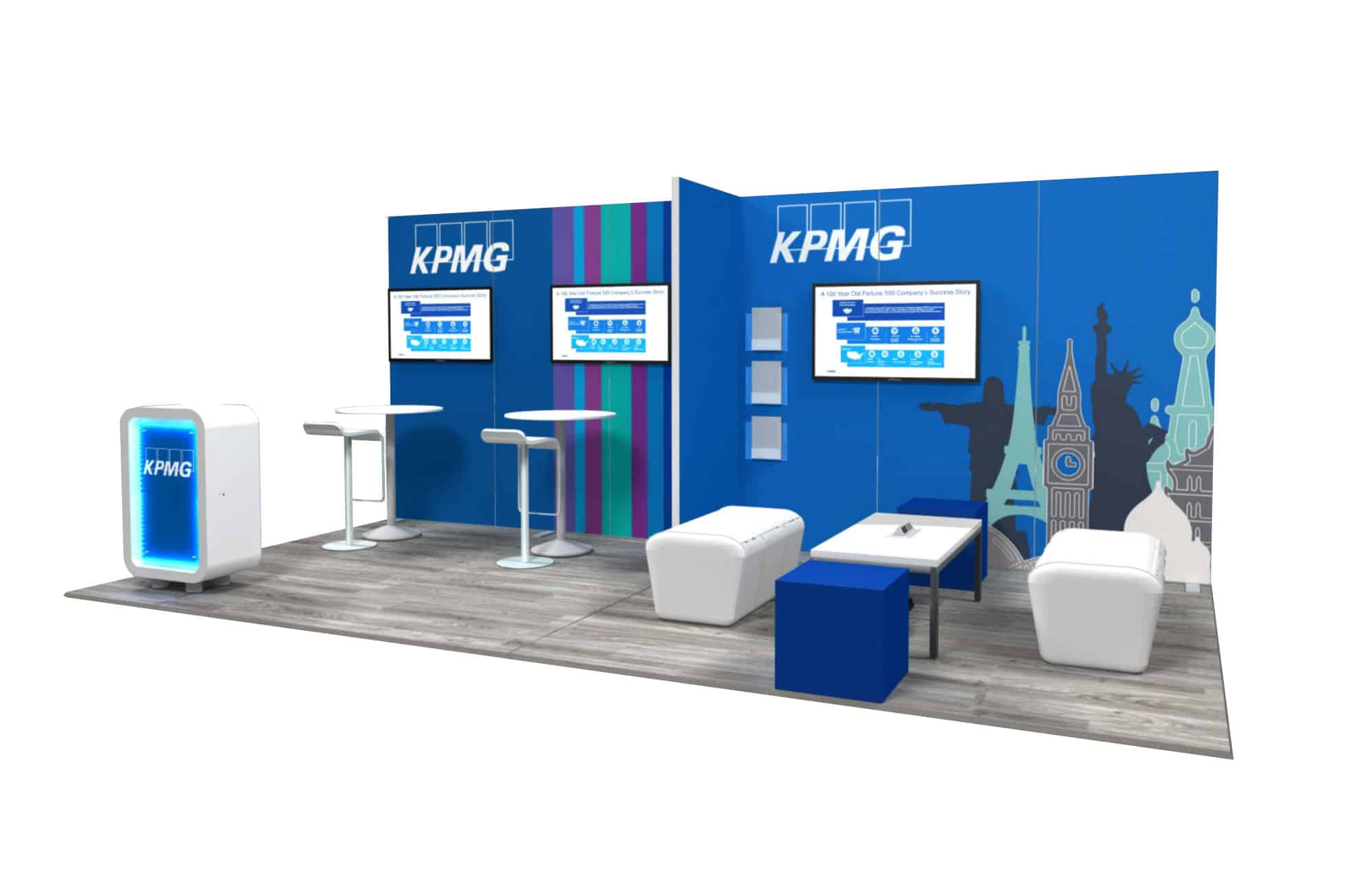 10x20 Trade Show Booth Rental Kpmg