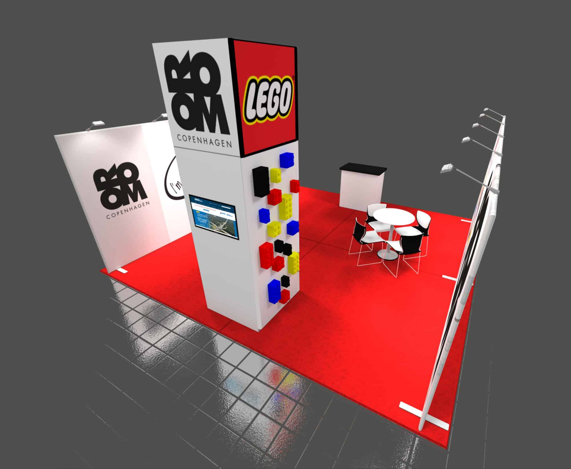 20x20 Trade Show Booth Rental Room Copenhagen