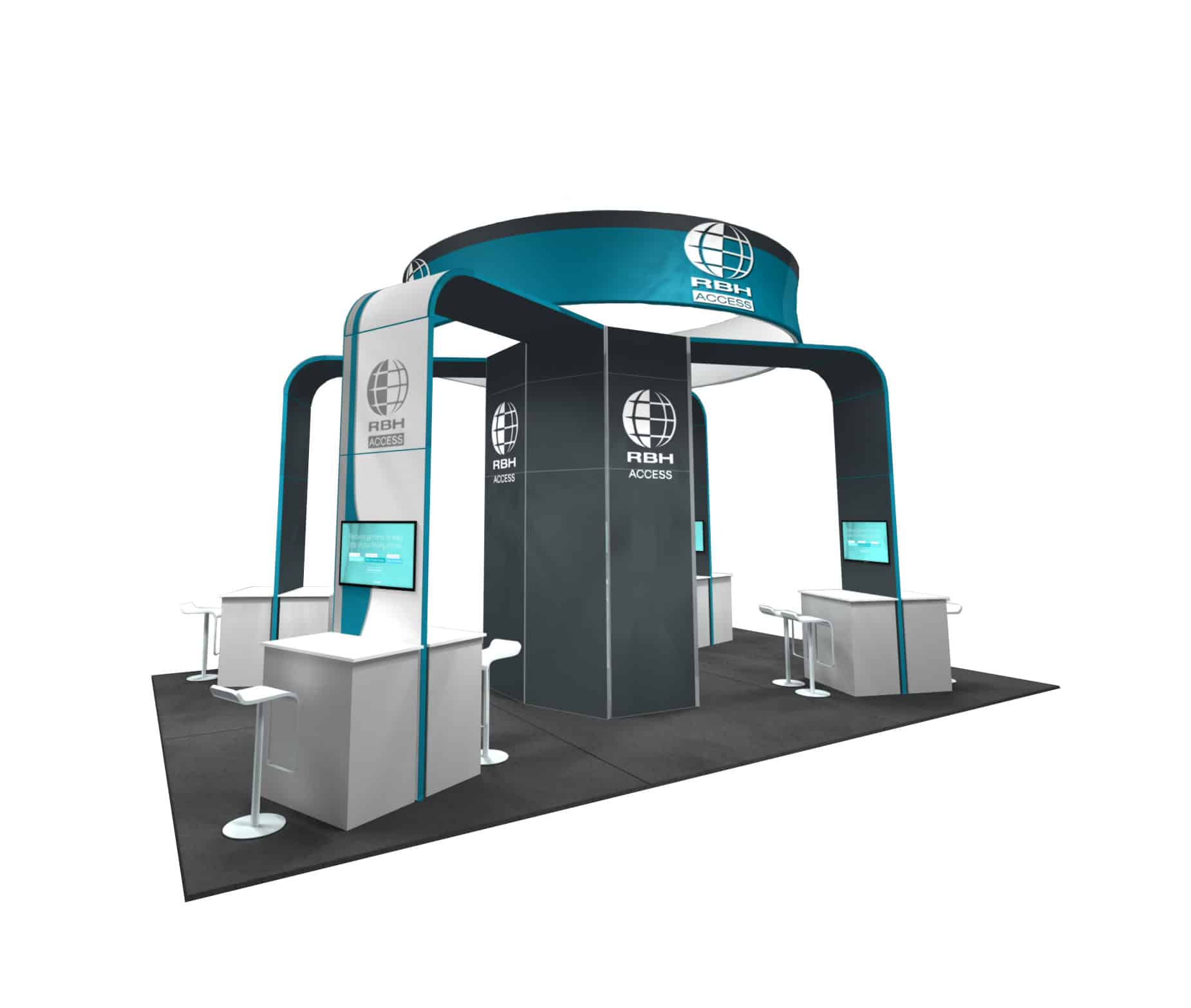 20x30 Trade Show Booth Rental: RBH