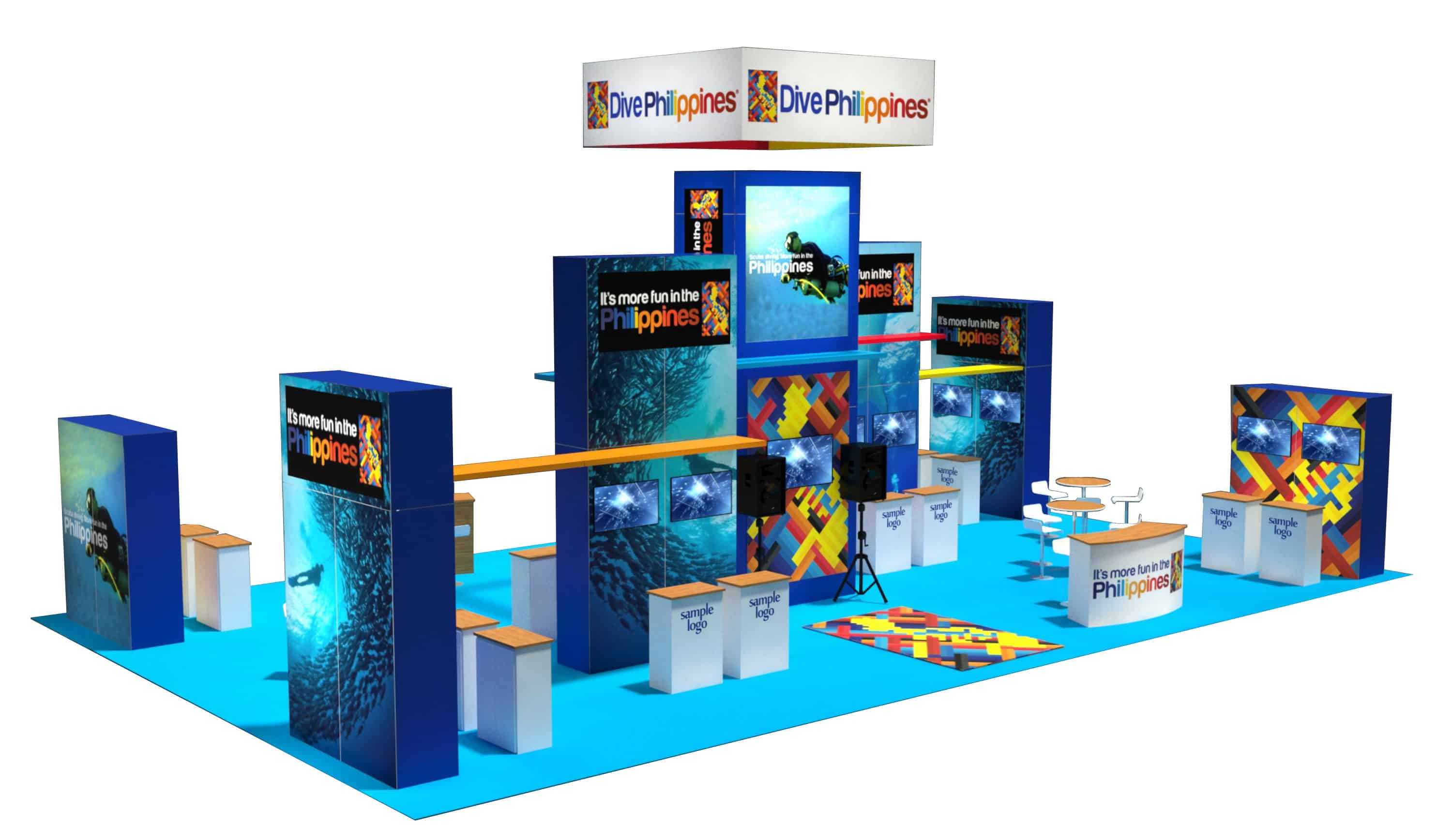 Trade Show Booth Visitors : Trade show booth rental philippines tourism