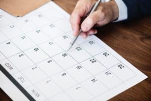 international trade show planning calendar