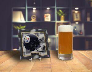 Tridelix Steelers coaster with beer